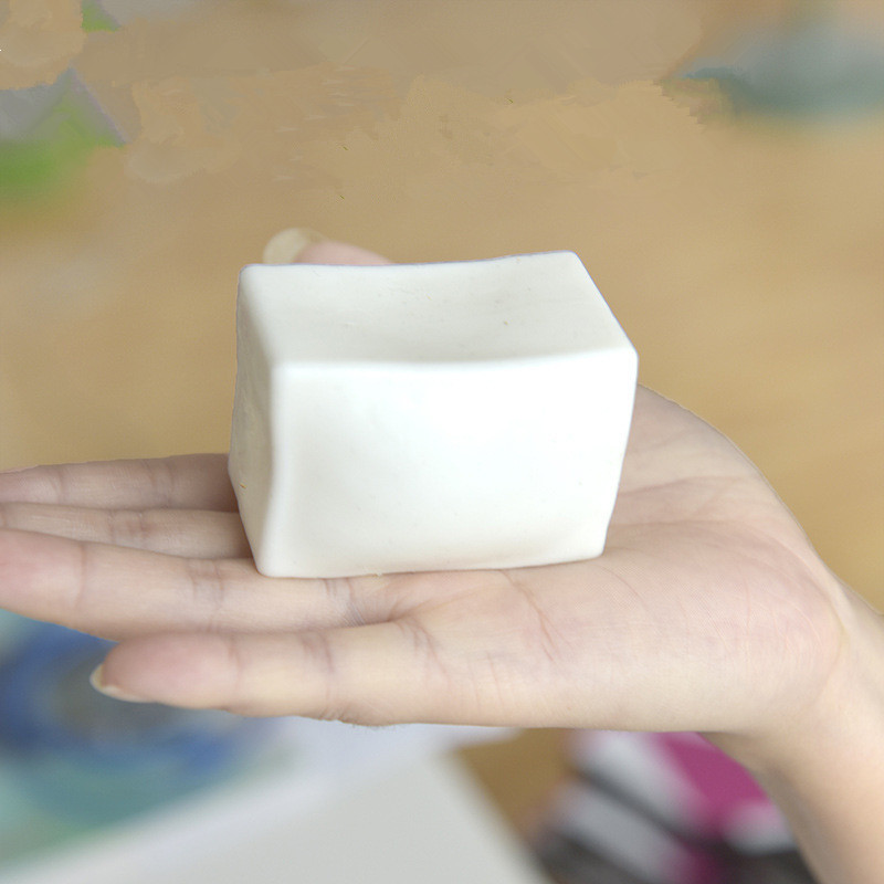 Fidgety Vent Toys White Extruded Cube  Kawaii Squeeze Stretchy Healing Antistress Slime Toys Kid Funny Tricky Gift