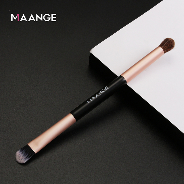 MAANGE 1pcs Multifunctional Double head Eye shadow Brush Double-end Foundation Powder Eyeshadow Brush Tool two head makeup brush 1