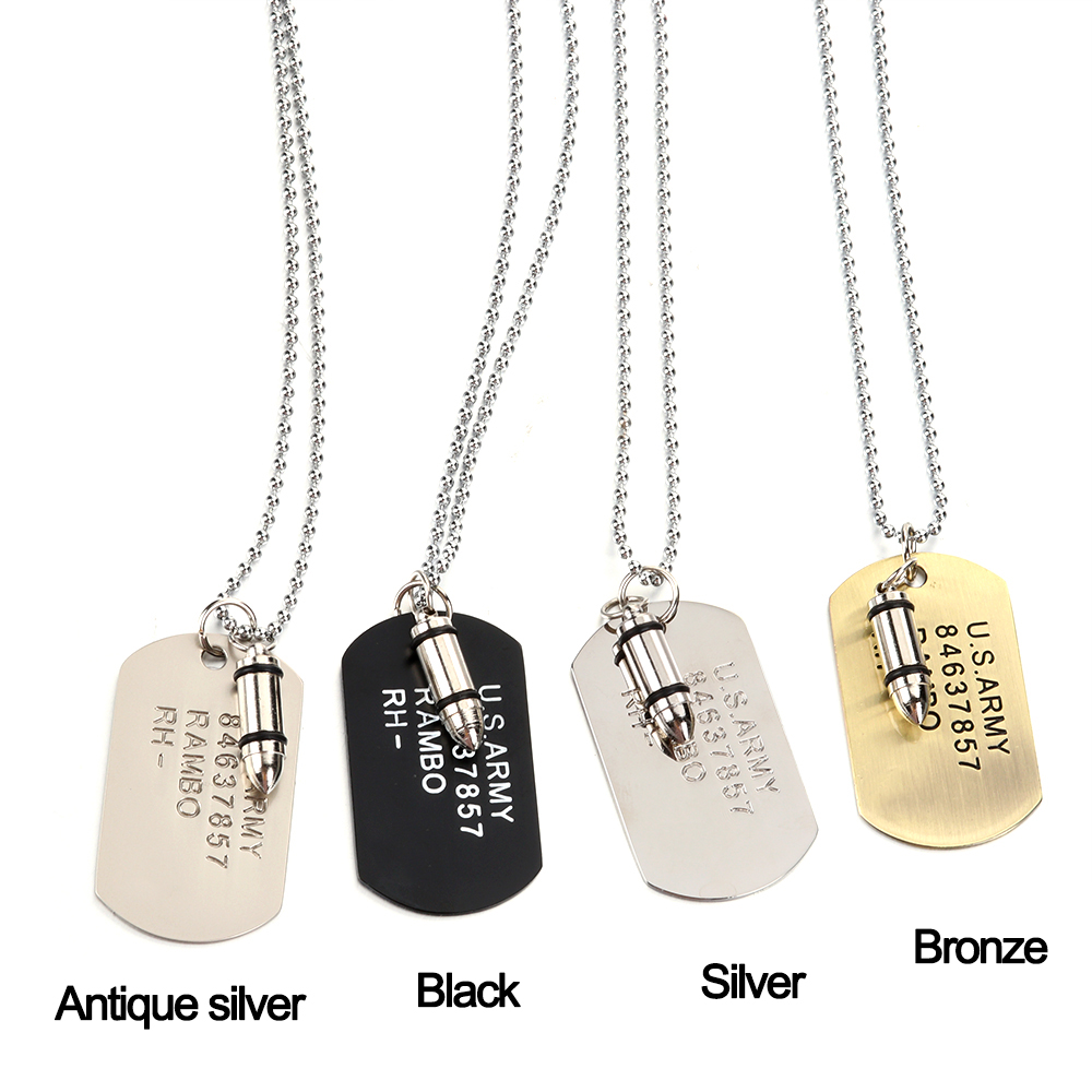 Colorful Butterflies And Flowers Jewelry Military Pendant Brand Necklace Metal Dog Tag