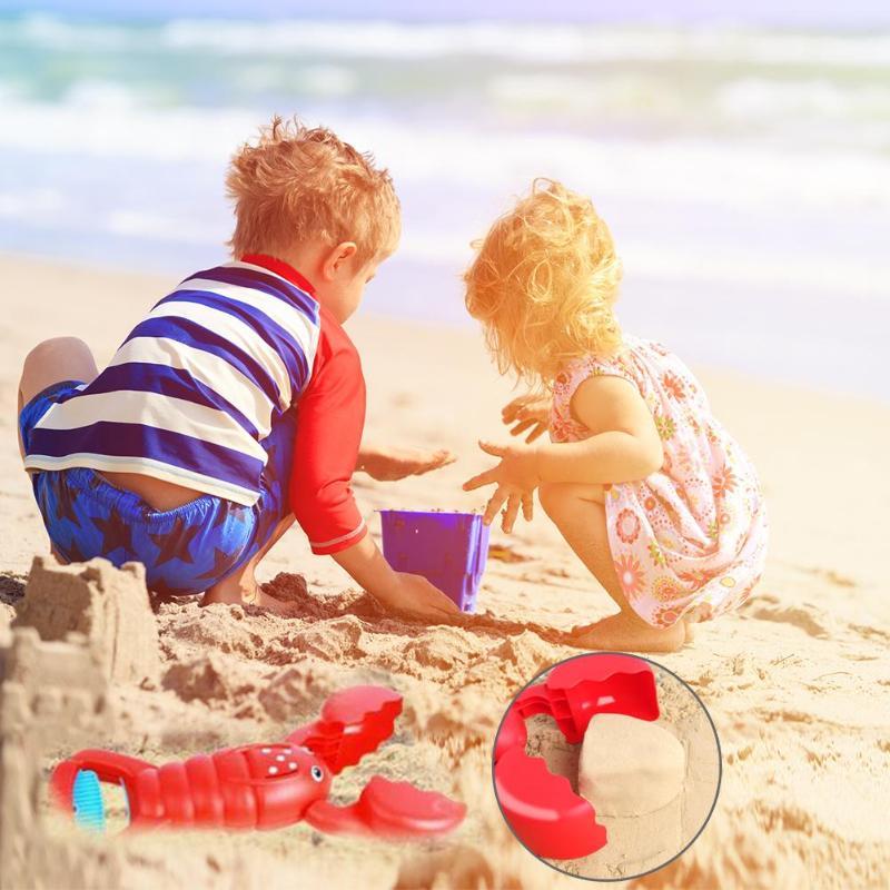 Multi-function Children Snowball Maker Clip Practical Cute Cartoon Lobster Hippopotamus Outdoor Sports Sand Mold Toys Beach Toys