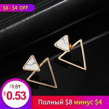 Best Selling Simple Design Marble Earrings Girls Classic Fashion Korean Version Of The Small Jewelry Bricins Wholesale