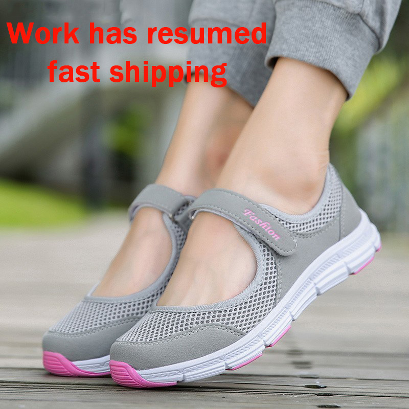 New Women Flats 2019 Spring Summer Ladies Mesh Flat Shoes Women Soft Breathable Sneakers Women Casual Shoes Zapatos De Mujer