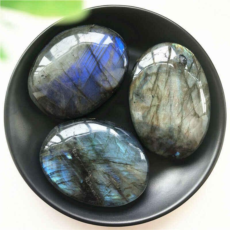 טבעי סדיר ברדוריט דקל אבן מלוטש טיפול קוורץ קריסטל ריפוי טבעי אבנים ומינרלים