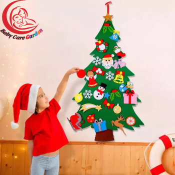 Kids DIY Felt Christmas Tree Christmas Decoration for Home  2021 New Year Gifts Christmas Ornaments Santa Claus Xmas Tree happy new year 2021 foil balloon set 2020 merry christmas eve party decorations for home ornaments santa claus tree xmas snowman