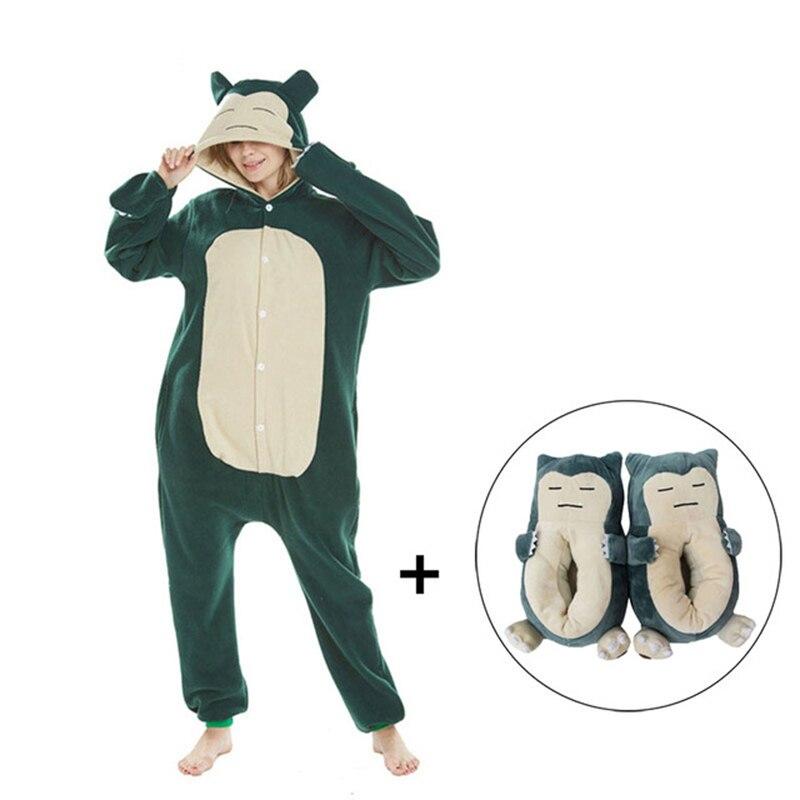 Snorlax Kigurumis Women Onesie Pajama Men Adult Polar Fleece Homewear Funny Cosplay Costume One Piece Pyjamas Sleepwear