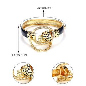 Image 5 - Tuliper حلي سوار للنساء ليوبارد أساور مجوهرات الحيوان كريستال مجوهرات هدية 팔الكورية الهندية