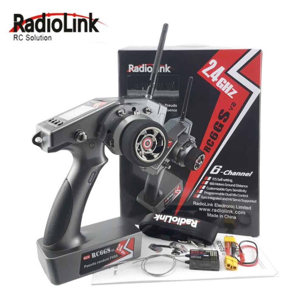 RadioLink RC6Gs V2 2 4G 6CH RC transmitter Car Controller With R7FG Gyro Receiver for RC Car Boat Accessories