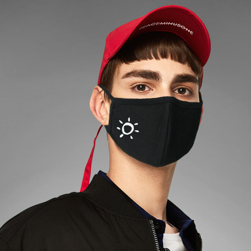 1pc Cotton Dustproof Personality Face Mask Black Anti-Dust Cotton Cute 3D Stereo Pattern Women Men Muffle Face Mouth Masks