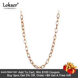 Lokaer Punk Miami Cuban Choker Necklace Collar Statement Hip Hop Big Chunky Stainless Steel Thick Chain Necklace Women N20127