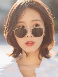 Retro Sunglasses Square Classic Small New-Style Frame Men Alloy
