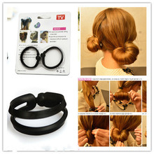 Bud-Like Hair Style Device Tool Black Environmental PP Hairdressing Mushroom Head Disc Band Headwear Accessories