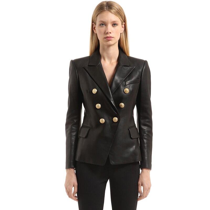 Vestes en cuir synthétique polyuréthane à Double boutonnage femme angleterre style veste en cuir pu Punk Rock vestes recadrées manteau en simili cuir F917