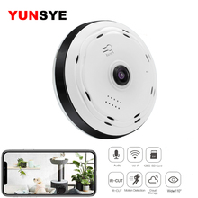 YUNSYE 360 Degree Home Security IP Camera 960P/1080P Smart Panorama IPC P2P Wireless Fisheye Lens CCTV Wifi Camera Baby Monitor shrxy 360 degree smart ipc mini wireless ip fisheye camera two way audio p2p 960p hd security wifi camera golden color