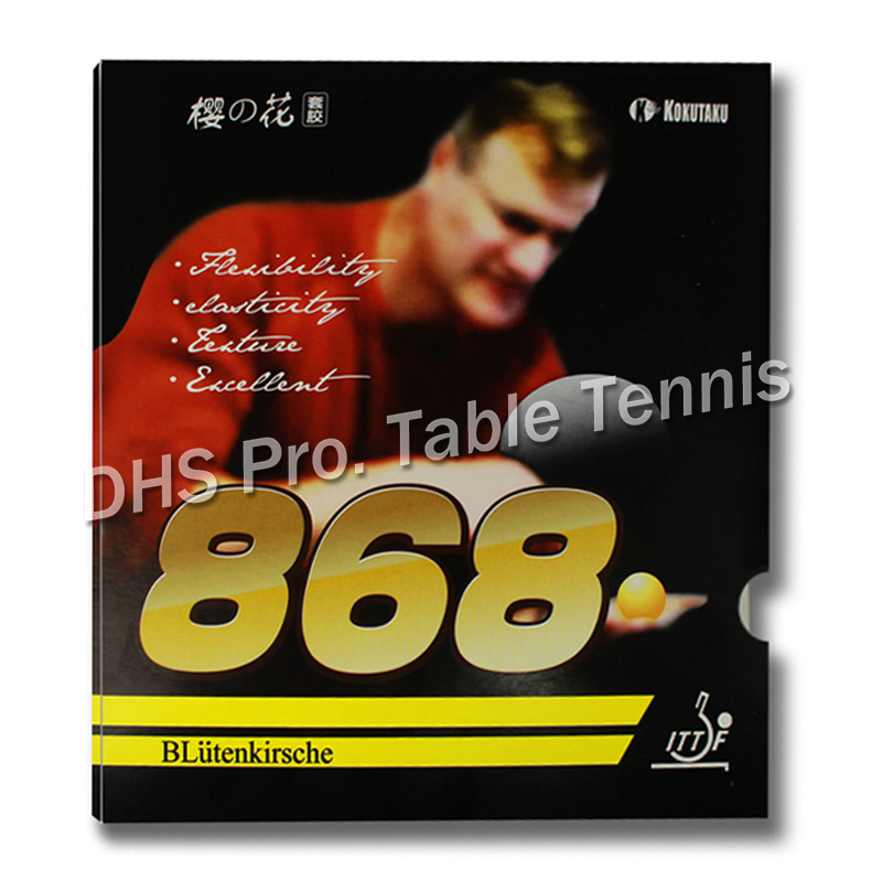 2x ITTF Approved KOKUTAKU 868 Table Tennis Rubber, Ping Pong Rubber Best Control