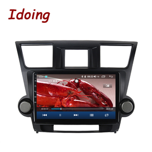"Image 5 - Idoing 10.2 ""4G + 64G araba radyo multimedya Android oyuncu navigasyon gps Toyota Highlander için 2 XU40 2007 2014 NO 2 din DVD"