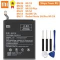 Оригинальный аккумулятор XiaoMi BM36 для Mi 5S MI5S BM22 для MI5 Mi 5 BM37 для Mi 5S Plus BN20 для Mi 5C BN34 BN31 для Redmi 5A Note 5A