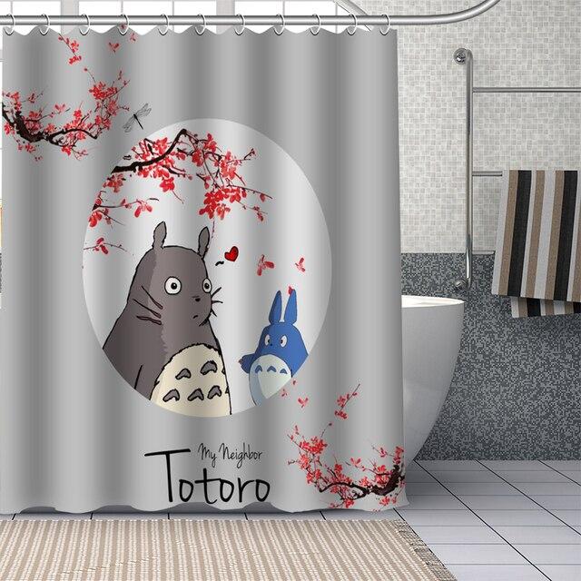 Tende misure standard · tende a rullo · tende veneziane · tendine per finestre · accessori per tende. Personalizzato Il Mio Vicino Totoro Tende Da Doccia Fai Da Te Tenda Della Stanza Da Bagno Tessuto Lavabile Poliestere Per La Vasca Da Bagno Di Arte Della Decorazione Douchegordijn Shower Curtains Aliexpress
