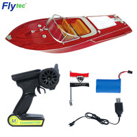Flytec V001 RC Boats 2.4GHz Remote Control 25km/H High Speed rc Boat Toy Model Cutting Edge Design Speedboats kids Toy