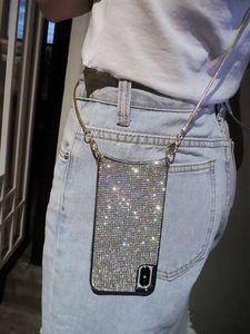 Image 1 - Custodia a tracolla con diamanti scintillanti scintillanti di lusso per iPhone 12 11 PRO XS MAX XR 8 plus Samsung S10 plus con catena lunga