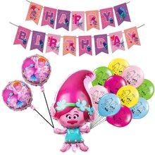 Desenhos animados de fadas princesa folha balões cabelo mágico elfos látex ballons festa feliz aniversário banner decoração suprimentos criança presente da menina brinquedo