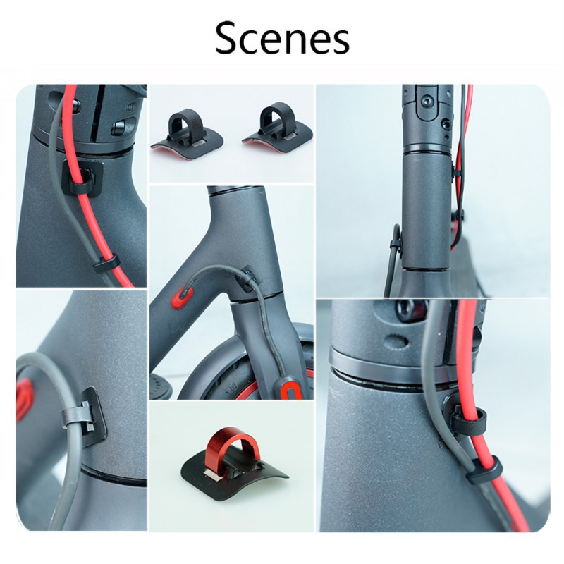 <font><b>Pro</b></font> Scooter Alloy Cable Loop Buckle Organizer For <font><b>Xiaomi</b></font> <font><b>Mijia</b></font> <font><b>M365</b></font> Electric Scooter Skateboard Accessories image