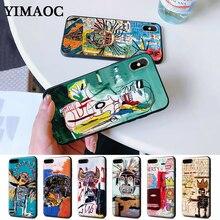Jean Michel Basquiat Art Graffiti Silicone Case for iPhone 5 5S 6 6S Plus 7 8 11 Pro X XS Max XR