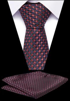 цена на Men Classic Tie Navy Blue Striped 7.5 cm Tie Jacquard Party Wedding 100% Silk Jacquard Woven Designers Necktie For Men Neckties