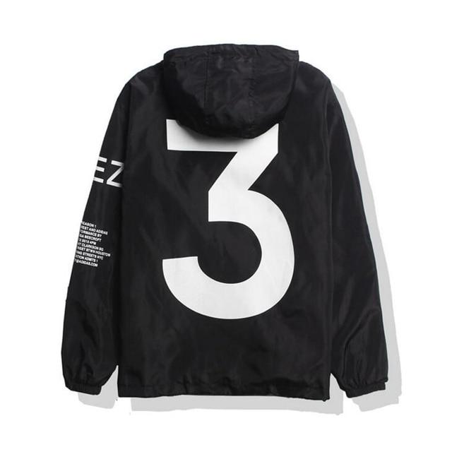 2021 Spring Kanye West Y3 Men's Windbreaker Jacket Outdoor Hooded Bomber Jacket Men Harajuku Hip Hop Streetwear Coats Outwear 1