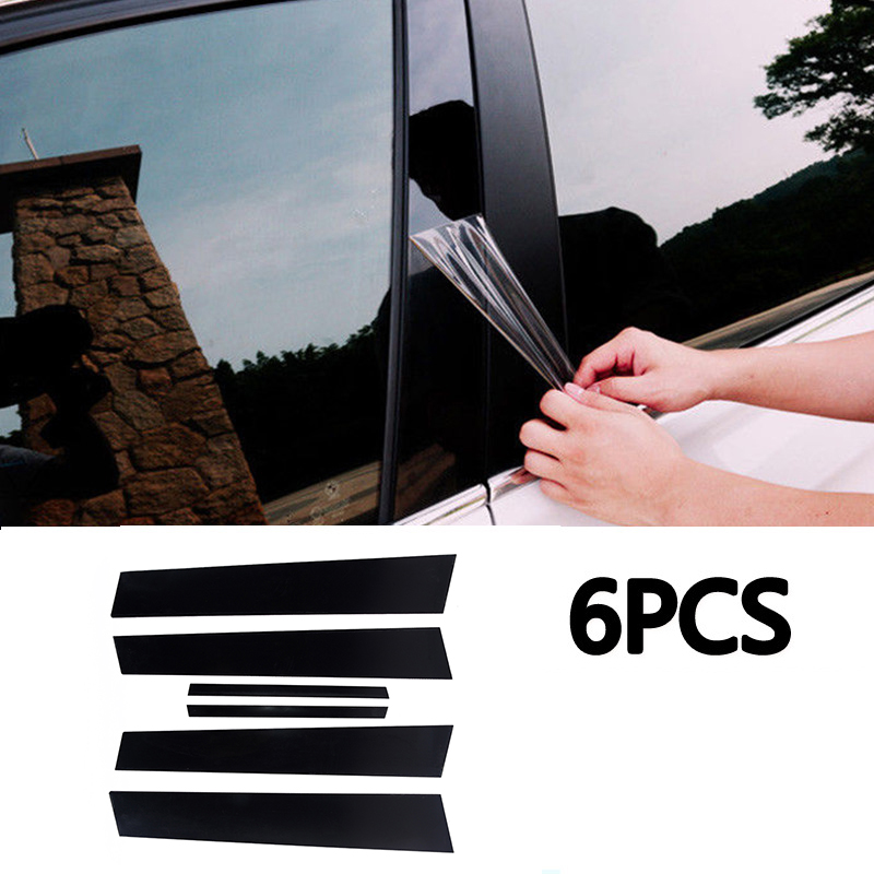 6pcs กระจกหน้าต่างเสาโพสต์สำหรับ Honda Civic Sedan 2006 2007 2008 2009 2010 2011 หน้าต่างเสาโพสต์ฝาครอบ