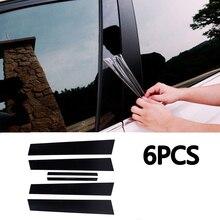 Auto Spiegel Effect Venster Pijler Post Cover Trim Moulding Voor Honda Civic Sedan 2006 2011 2016 2018 Midden kolom Strip Sticker