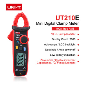 UNIT Mini Digital Clamp Meters UT210E True RMS AC/DC Current Voltage Auto Range VFC Capacitance Non Contact Multimeter UT210D/A