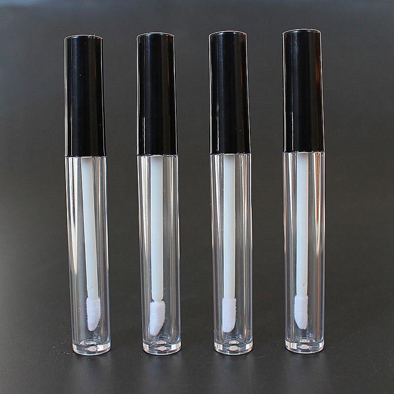 50 p s lote 3ml vazio pl stico claro l bio gloss tubo recipiente de b
