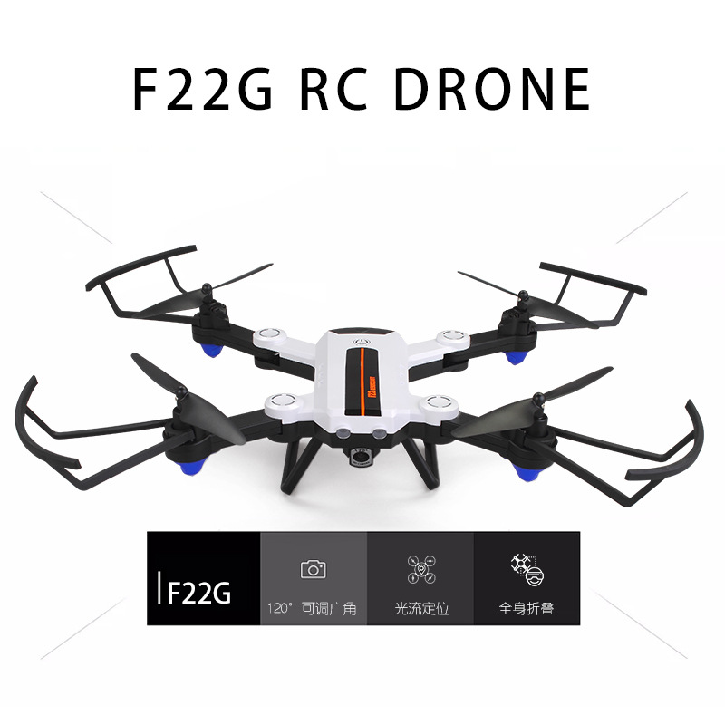 F22g Folding Unmanned Aerial Vehicle Airplane Optical Flow Positioning Wide-angle Aerial Photography Remote Control Four-axis