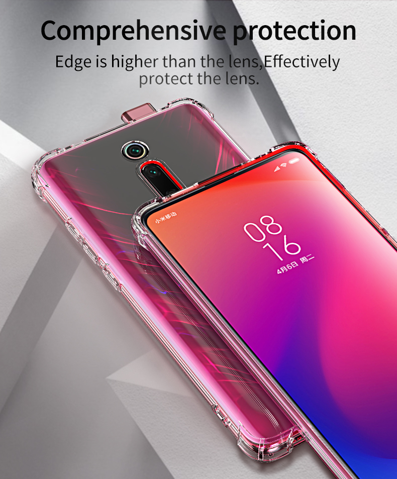 Super Shockproof Airbag Case For Xiaomi Mi 9T Redmi K20 Pro Note 7 6 5 Pro 7A Y3 9 SE 8 Lite Clear Soft TPU Ani-Knock Cover