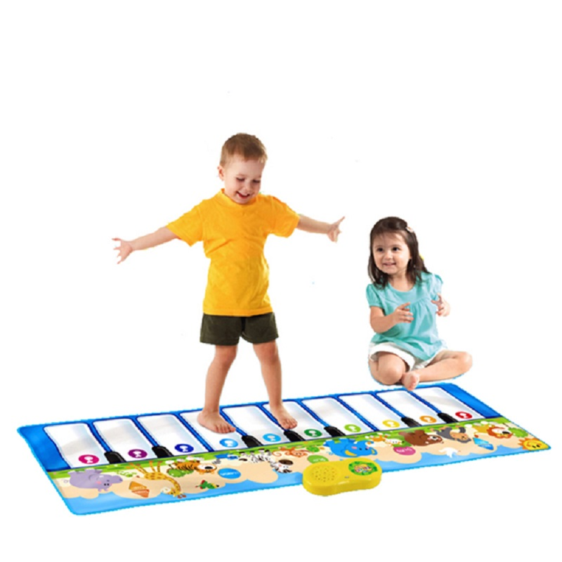 Children Dance Step On Their Feet Electronic Piano Blanket Birthday Present Music Toy Animal Game