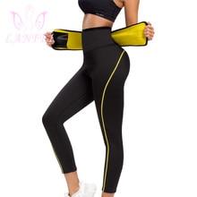 LANFEI High Waist Neoprene Slimming Pants Women Waist Trainer Cincher Belt Sweat Sauna Panties Trouser Tummy Control Girdle Suit