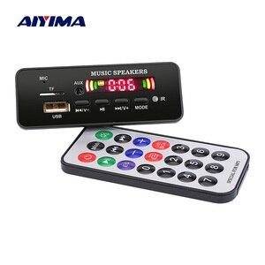 Image 1 - AIYIMA 12 в MP3 Bluetooth декодер плата цветной дисплей WMA WAV FLAC APE декодирование USB TF FM своими руками