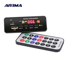 AIYIMA 12V MP3 Bluetooth Decoder Board Color Display WMA WAV FLAC APE Decoding USB TF FM DIY Sound Audio Speaker