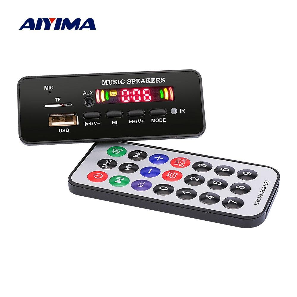 AIYIMA 12V MP3 Bluetooth Decoder Board Color Display WMA WAV FLAC APE Decoding With Call Record USB TF FM Car Audio Accessories