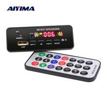 AIYIMA 12V MP3 Bluetooth מפענח לוח צבע תצוגת WMA WAV FLAC APE פענוח USB TF FM DIY קול אודיו רמקול