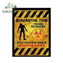 EARLFAMILY 13cm x 10.28cm Car Styling Funny QUARANTINE ZONE ZOMBIE OUTBREAK Car Stickers JDM Laptop Decal Glue Sticker outbreak
