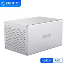 ORICO WS Series 5 Bay USB3.0 3.5'' HDD Enclosure With RAID Support 50TB Hard Disk HDD Docking Station 5Gbps USB Hard Disk Box