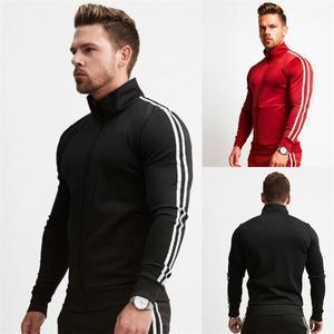 Image 1 - Brand New Zipper Men Sets Fashion Autumn winter Jacket Sporting Suit Hoodies+Sweatpants 2 Pieces Sets Slim Tracksuit clothing
