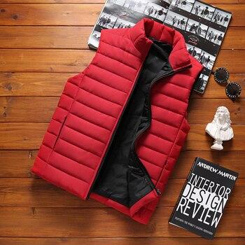 Жилет DIMUSI мужской зимний, безрукавка с хлопковой подкладкой, теплый жилет с воротником-стойкой, 5XL