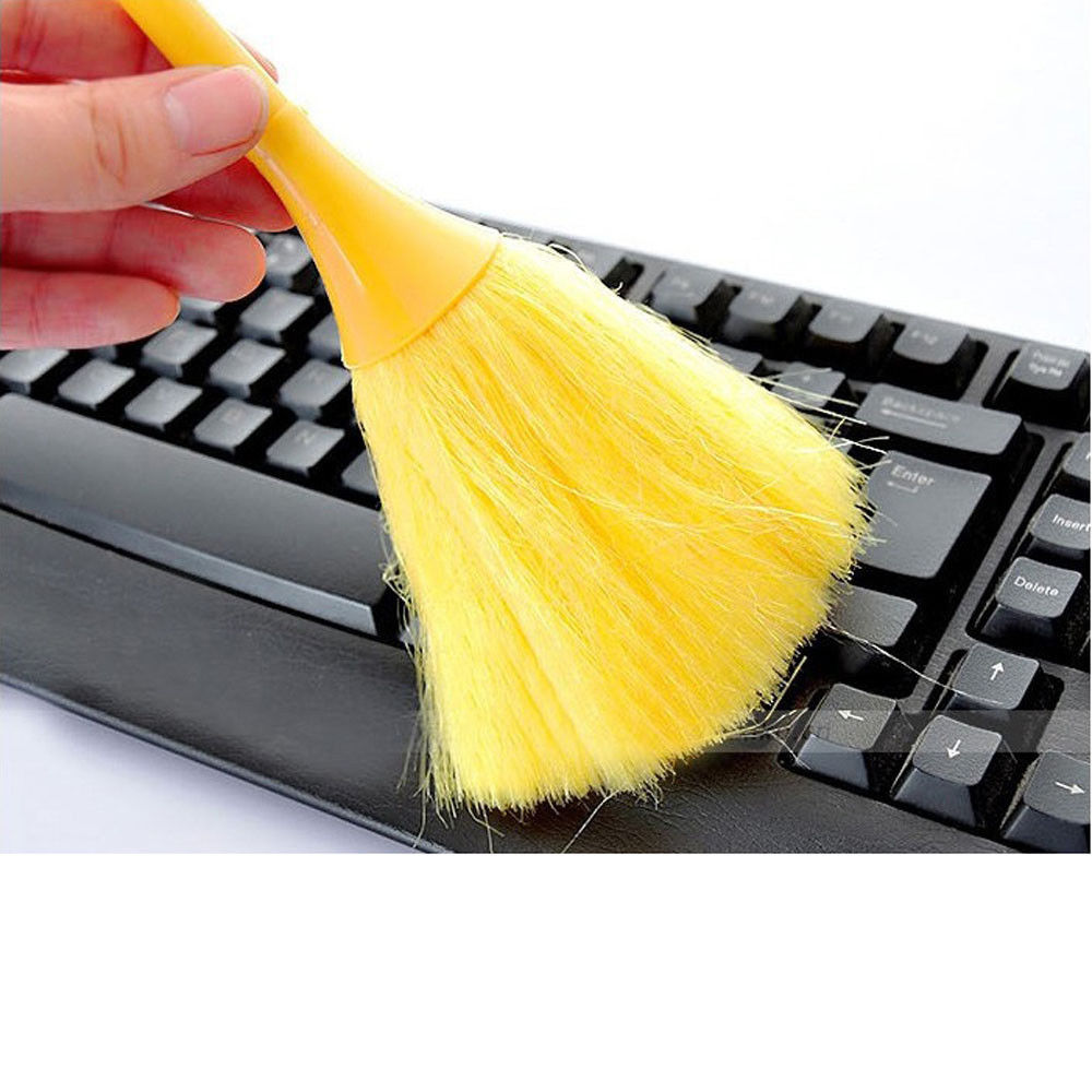 Multi-Function Mini Keyboard Vehicle Anti-Static Dust Brush Desktop Sweeper