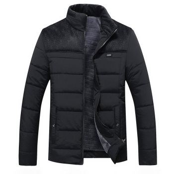 Cotton-padded Clothes Men's Cotton-padded Clothes Cotton-padded Jacket Warm Plus Velvet Plus-size Hooded