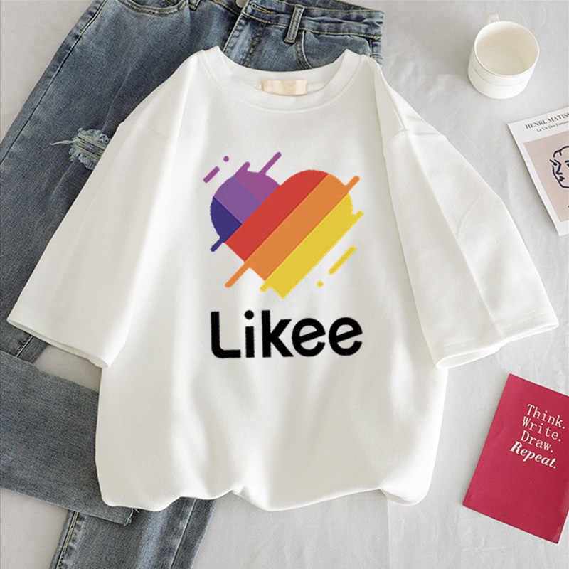 ヒョウ柄ハート柄の女性の tシャツ女性カジュアル白トップ半袖女性の tシャツラブハート刺繍プリント女性