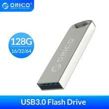 ORICO-unidad Flash USB de Metal USB 3,0 de Metal resistente al agua, pendrive con memoria usb 3,0, 128GB, 64GB, 32GB, 16GB