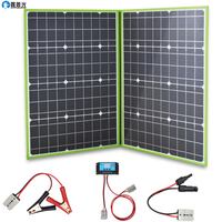 xinpuguang 100W 12V Folding Solar Panel foldable Portable Solar Charger Generator with 10A Charge Controller Cable for Battery