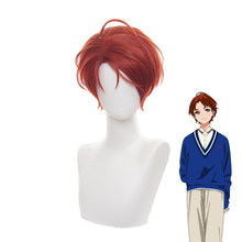 Anime WONDER EGG PRIORITY Momoe Sawaki Short Wig Cosplay Costume Heat Resistant Synthetic Hair Women Carnival Party Wigs